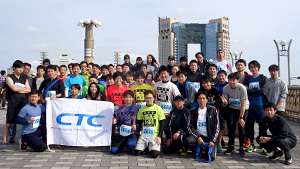 Employees participate in NIPPON IT Charity Ekiden