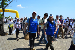 Walk the World charity walk hosted by the Japan Association for the World Food Programme (WPF)